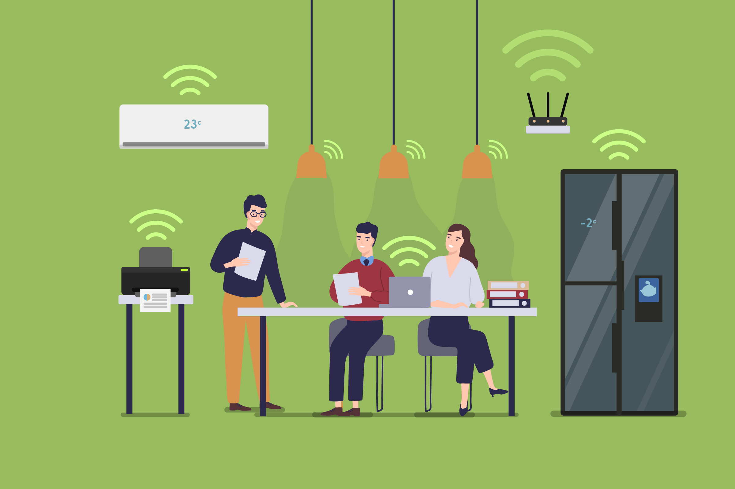 IoT and its Role in a Smart Office
